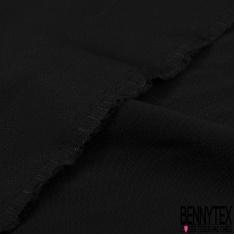 Crêpe Viscose Fluide imprimé Petite Fleur Sauvage Multicolore fond Noir