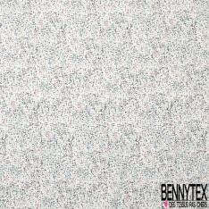 Crêpe Polyester Elasthanne imprimé Peau de Bête Noir Fiesta