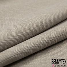 Jersey Coton Piqué Uni Ebène Sérigraphie Plumetis Blanc