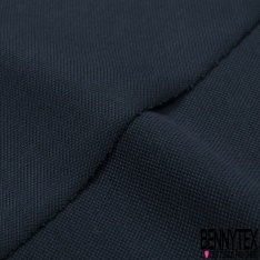Jersey Coton Piqué Uni Bleu Insigne grande laize