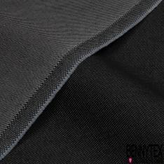 Toile Jeans Sergé Epais Lourd Polycoton Noir Anthracite