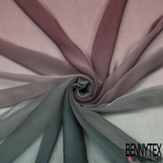 Mousseline de Soie Tie and Die Or Rose Bleu Shocking Cacatoès Horizontal