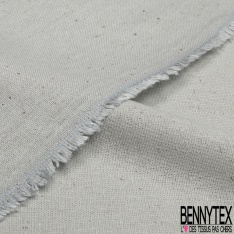 Bourrette de Soie Façon Lin Chiné Blanc Cassé