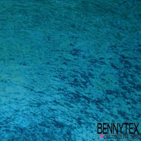 Panne de Velours Turquoise Foncé