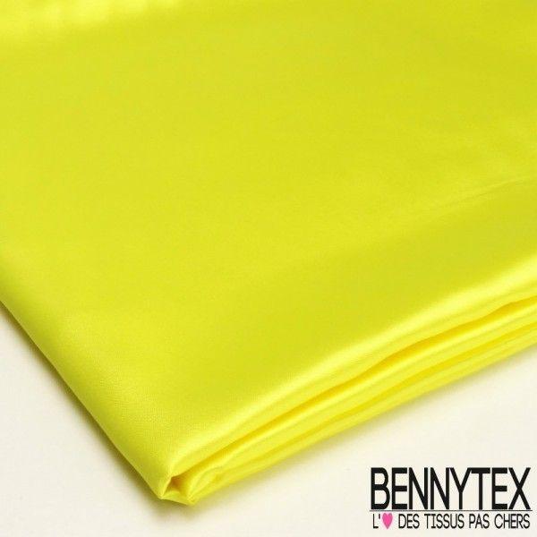 Coupon Satin Polyester Haute Gamme Jaune Chartreuse