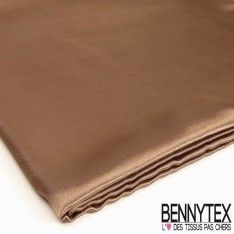 Coupon Satin Polyester Haute Gamme Choco
