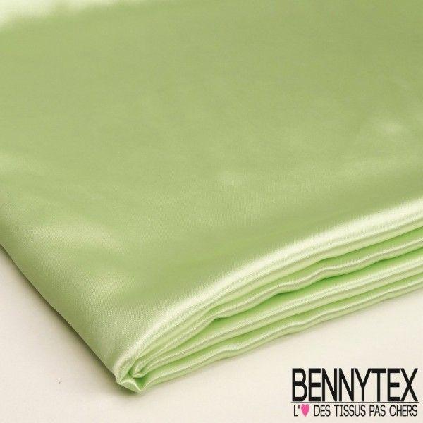 Coupon Satin Polyester Haute Gamme Vert d'eau