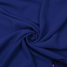 Crêpe Polyester Uni bleu royal