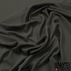 Crêpe Polyester légère et fluide Uni vert du soir