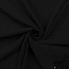 Microfibre Coréenne Rayure Verticale ton sur ton Noir
