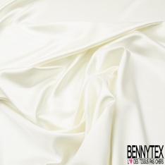 Satin Duchesse Polyester Elasthanne Blanc cassé