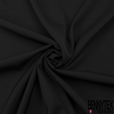Microfibre lourde double face effet froissé noire