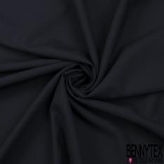 Laine polyester costume uni bleu marine foncé