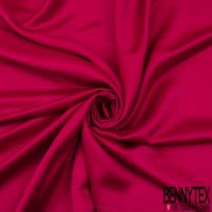 Crêpe Polyester Elasthanne envers satiné fluide framboise