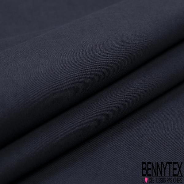 Cupro Viscose effet peau de pêche uni bleu indigo