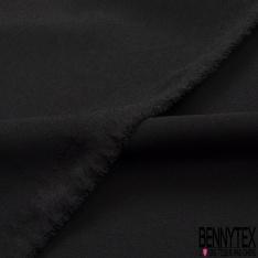 Crêpe Polyester Lourd Uni Noir