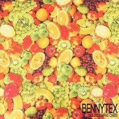 Coupon Jersey Cristal Imprimé Fruits