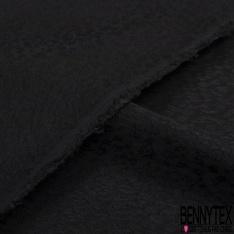 Fibranne Gaz viscose imprimé petits motifs léopards ton sur ton noir