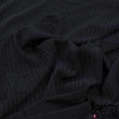 Coupon 3m Microfibre Coréenne Elasthanne Lourde Double Rayure Verticale ton sur ton Puce