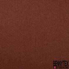Polylaine Sergé bicolore ocre et bordeaux