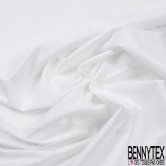 Popeline Coton Elasthanne imprimé Petit Motif Cravate Blanc fond Caban