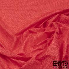 Doublure légère Dots Rouge fond Rose Estompé