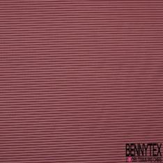 Doublure légère Rayure Fine Horizontale Rouge de Terre Blanc