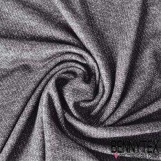 Molleton Sweat Polyester Couleur Noir Lurex Gris
