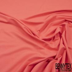 Molleton Grattée Polyester uni Rose Carmin grande laize