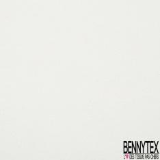 Molleton Gratté Elasthanne Blanc Eclatant grande laize