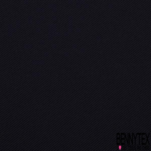 Coupons de 3m de Jacquard polyester élasthanne sergé gaufré bleu marine