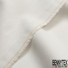 Coupons de 3m de Toile Polyester Souple blanc asperge