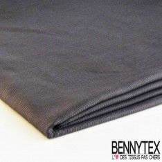 Coupon Coton Polyester Fine Nervures Gris Anthracite