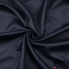 Molleton Polyester Dos Laqué bleu marine