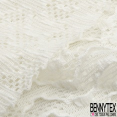 Dentelle Polyester Macramé Floral Blanc Cassé