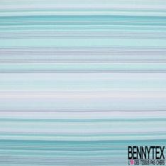 Jersey Viscose imprimé rayures horizontales camaïeu de gris