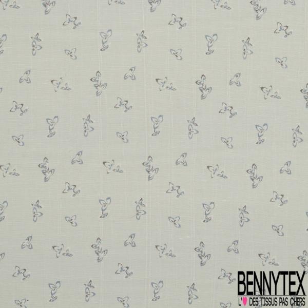 Coupon 3m de Doupion de Soie N°294: motif effacé floral fond teinte céladon