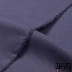 Coupons de 3m de Lin Viscose fluide style jeans chiné