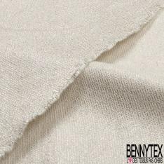 Toile de coton souple blanc discret lurex argent