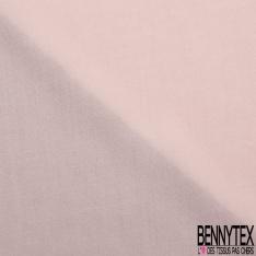 Voile fibranne viscose uni cornouiller rose