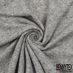 Jersey Laine Polyester Uni marron