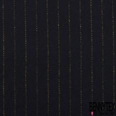 Laine motif écossais noir blanc chiné multicolore