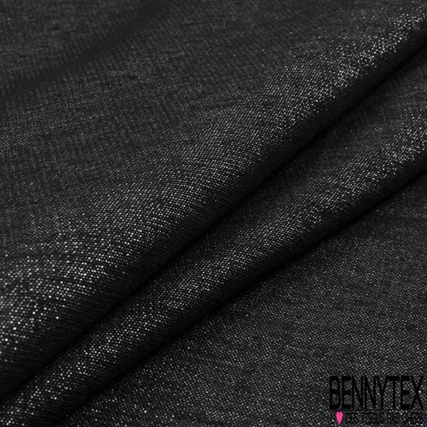Lin Coton imprimé petits motifs cravates bleus nautiques Fond bleu marine