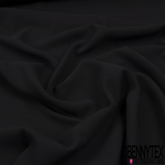 Crêpe Polyester Elasthanne Lourd Uni Noir Corbeau
