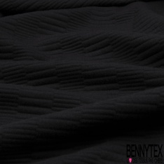 Jersey polyester Matelassé Sinusoïde Géométrique Dulcamara
