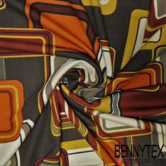 Coupon Maille Jersey Milano Motif Graphique N°11