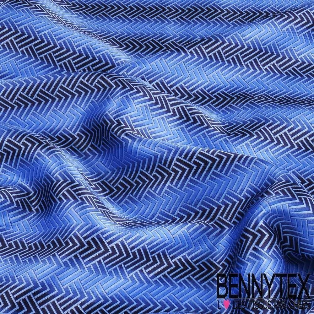 85828c143beb Carré de Soie Satin N°45   Motif Couleur Bleu   Bennytex vente de ...