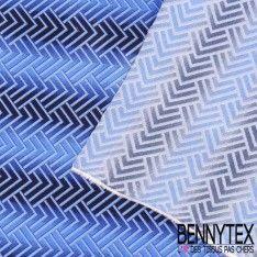 Carré de Soie Satin N°45 : Motif Couleur Bleu