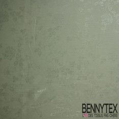 Mousseline Polyester Blanche Lamé Imprimé Pailleté Fleur Argent