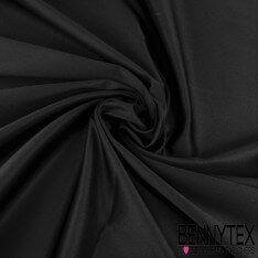 Gabardine Polyester Élasthanne Noir Satiné